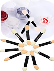 1set 10pcs Nail Art Tools Eye Shade Brush Sponge Sticks For Makeup Or Nail Beauty NJ194