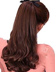 Недорогие -Накладка на микрокольце Волнистый Искусственные волосы Волосы Наращивание волос Черный Темно-коричневый Клубничный блондин Medium Auburn