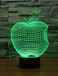 economico -apple touch dimming 3d led night light 7colorful decorazione atmosfera lampada novità luce di illuminazione