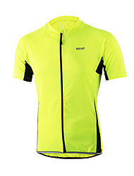 Arsuxeo Cycling Jersey Men's Short Sleeves Bike Jersey Quick Dry Anatomic Design Front Zipper Breathable Reflective Strips Back Pocket