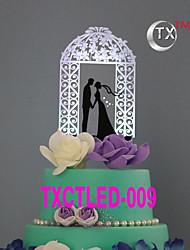 Figure za torte Non-personalizirane Par Classic Akril Vjenčanje Cvijeće Crn Klasični Tema 1 Poklon kutija