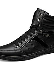 cheap -Men's Sneakers Spring / Fall / Winter Round Toe PU Casual Flat Heel  / Lace-up Black Walking /