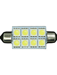 "4 X White 42MM 5050 8SMD Festoon 1.7"" Dome Map Interior LED Light bulb 211-2 578"