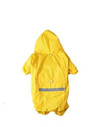 preiswerte -Hund Kapuzenshirts Overall Regenmantel Hundekleidung Solide Einfarbig Gelb Rot Nylon Kostüm Für Haustiere Herrn Damen Wasserdicht