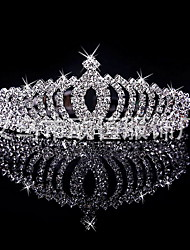 cheap -Women's Crystal/ Rhinestone Silver Plated Alloy Crown,Bridal Wedding Winter Spring Summer Fall Silver