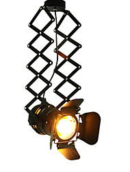 cheap -Vintage LED Track Light lofl industrial Spotlight pendant light black track lights spotlights clothes store ceiling lamp