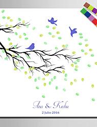 preiswerte -E-Home® personalisierte Fingerabdruck Malerei Leinwanddrucke -a Vogel auf einem Ast (12 Tintenfarben enthält)