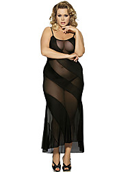 Women Summer Black Sexy Perspective Stitching Hollow Net Yarn Lace Dew Skirt Lingerie