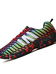 Недорогие -Муж. обувь Полиуретан Весна Осень Удобная обувь Кеды Беговая обувь для Атлетический Повседневные Серый Красный Зеленый