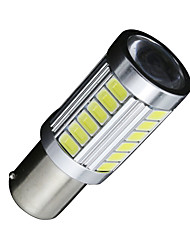 2PCS White 1156 BA15S 33-SMD 5630 LED Auto Car Vehicle Reverse Tail Light Bulb 12V-24V