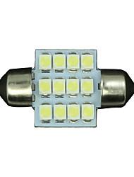 Недорогие -10 х 31 мм белый 12smd гирлянда купола карту интерьер светодиодная лампа DE3175 3022 3021