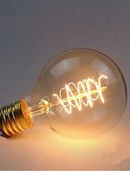 e27 60w g80 em torno do fio americano ball bola edison retro lâmpadas decorativas