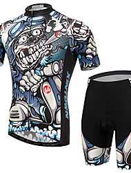 cheap -Men's Short Sleeves Cycling Jersey with Shorts Bike Clothing Suits, Quick Dry, Breathable, Spring Summer, Lycra