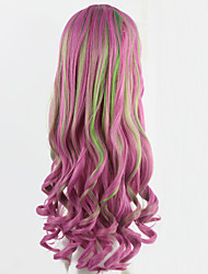 Cosplay Wigs Pink Anime Curly Wig Long Wavy Girl Synthetic Wig 70CM Festive Party Peruca