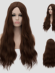 cheap -Women Synthetic Wig Capless Very Long Dark Brown With Bangs Capless Wig Halloween Wig Carnival Wig Costume Wigs
