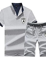 Per uomo T-shirt e pantaloncini da corsa Manica corta Traspirante Set di vestiti per Esercizi di fitness Attività ricreative Badminton