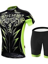 Per uomo Manica corta Bicicletta Set di vestiti Asciugatura rapida Zip anteriore Indossabile Traspirabilità alta (> 15001 g) Traspirante