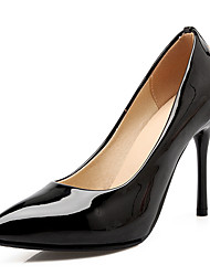 preiswerte -Damen Schuhe Kunstleder Frühling Sommer Pumps High Heels Stöckelabsatz Strass für Normal Büro & Karriere Kleid Schwarz Beige Rot