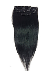 "18""#1 Clip In Real Human Hair Extensions 8Pcs/80g"