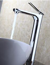 billige -Moderne Vandret Montering Roterbare with  Keramik Ventil Enkelt håndtag Et Hul for  Krom , Håndvasken vandhane
