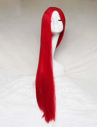 cheap -Cosplay Wigs Red Color Carve One Meter Long Straight Hair Wig