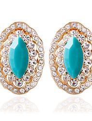 povoljno -Žene Moda Legura Ovalnog Jewelry Crn Crvena Plava Tamno zelena Vjenčanje Nakit odjeće
