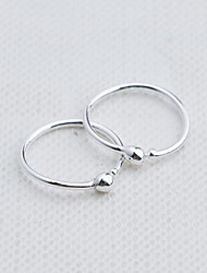 cheap -Clip Earring RoundJewelry 1 pair Fashionable Sterling Silver Silver Daily / Casual