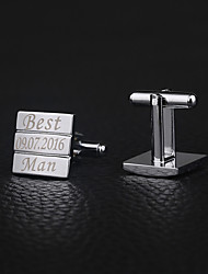 cheap -Groom Groomsman Zinc Alloy Cufflinks & Tie Clips Wedding Anniversary Birthday
