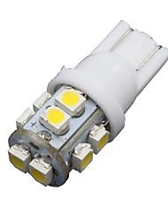 Недорогие -10шт теплый белый автомобиль 360 ° T10 клин 10-SMD интерьер купола карту двери Светодиодные лампы