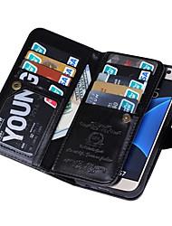 baratos -SHI CHENG DA Capinha Para Samsung Galaxy Samsung Galaxy S7 Edge Carteira Capa Proteção Completa Côr Sólida PU Leather para S7 edge / S7 / S6 edge