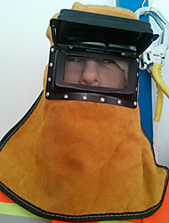 Недорогие -чистая кожа двойная маска остекление сварки для предотвращения искр всплеск капот высокой температуры изоляции маски