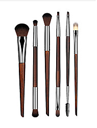 Pro 6pcs Makeup Brushes Set Powder Foundation Eyeshadow Eyeliner Lip Brush Tool