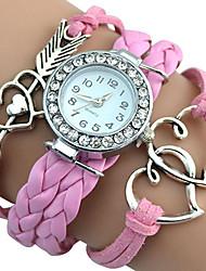 cheap -Women's Wrist watch Quartz / PU Band Vintage Casual Bohemian Cool Black White Grey Pink Purple Rose