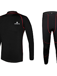 cheap -Miloto Cycling Base Layer Men's Long Sleeves Bike Underwear Winter Fleece Jacket Baselayer Compression Clothing Tights Winter Fleece Bike
