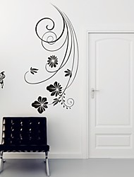 cheap -AYA™ DIY Wall Stickers Wall Decals, Butterflies Over Flowers Type PVC Panel Wall Stickers 42*88cm