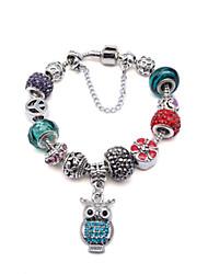 Femme Bracelets de rive Mode Perlé Argent sterling Forme de Cercle Bijoux Pour Quotidien Décontracté