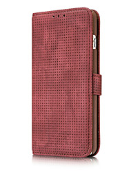 Dlassic Wallet Solid Color Genuine Leather Breathing hole Card Wallet Retro Case for iPhone 7 7 Plus 6s 6 Plus