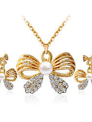 cheap -Women's Jewelry Set - Include Necklace / Earrings Gold For Wedding Party Daily / Casual