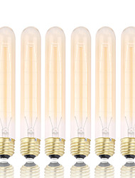 cheap -GMY 6Pcs T30 Edison Bulb Vintage bulb 60W E26/E27 Decorate Bulb 185mm