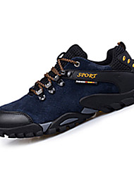 Hiking Shoes Men's Sneakers Spring / Fall Comfort Suede Athletic Flat Heel Black / Blue / Yellow / Gray