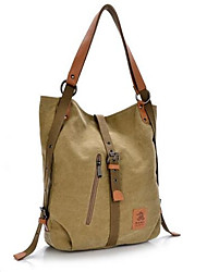 cheap -Women's Bags Canvas Shoulder Bag Buttons for Casual Outdoor Fall Khaki