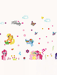 cheap -Wall Stickers Wall Decals Style My Little Pony PVC Wall Stickers