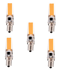 cheap -YWXLIGHT® 5pcs 400-500 lm E12 LED Bi-pin Lights T 1 leds COB Dimmable Decorative Warm White Cold White AC 110-130V