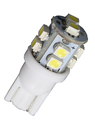 4 X Super White T10 10-SMD LED Car Interior Light Bulbs 168 194 2825 921 161 912