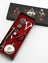 Jewelry Inspired by Assassin's Creed Conner Anime/ Video Games Cosplay Accessories Necklace / Brooch / Clock/Watch / Ring Silver Alloy