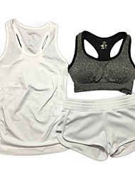 Per donna Reggiseni sportivi Traspirante Resistente agli urti Compressione Reggiseni sportivi Pantaloncini /Cosciali Set di vestiti Top