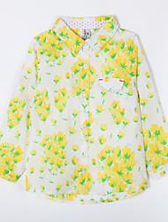 preiswerte -Bluse Alltag Baumwolle Herbst Gelb