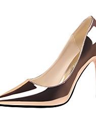 Damen-High Heels-Kleid-Kunstleder-Stöckelabsatz-Absätze / Spitzschuh / Geschlossene Zehe-Schwarz / Braun / Rot / Weiß / Silber / Gold /