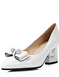 cheap -Women's Shoes Winter Heels / Pointed Toe Heels Wedding Dress Chunky HeelBowknot / Sparkling Glitter /