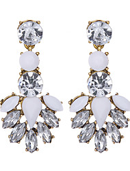 cheap -Women's Crystal Drop Earrings - Resin Flower Fashion White For Wedding / Party / Daily / Casual